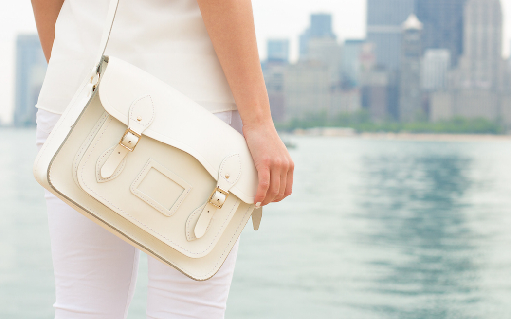 White Cambridge Satchel