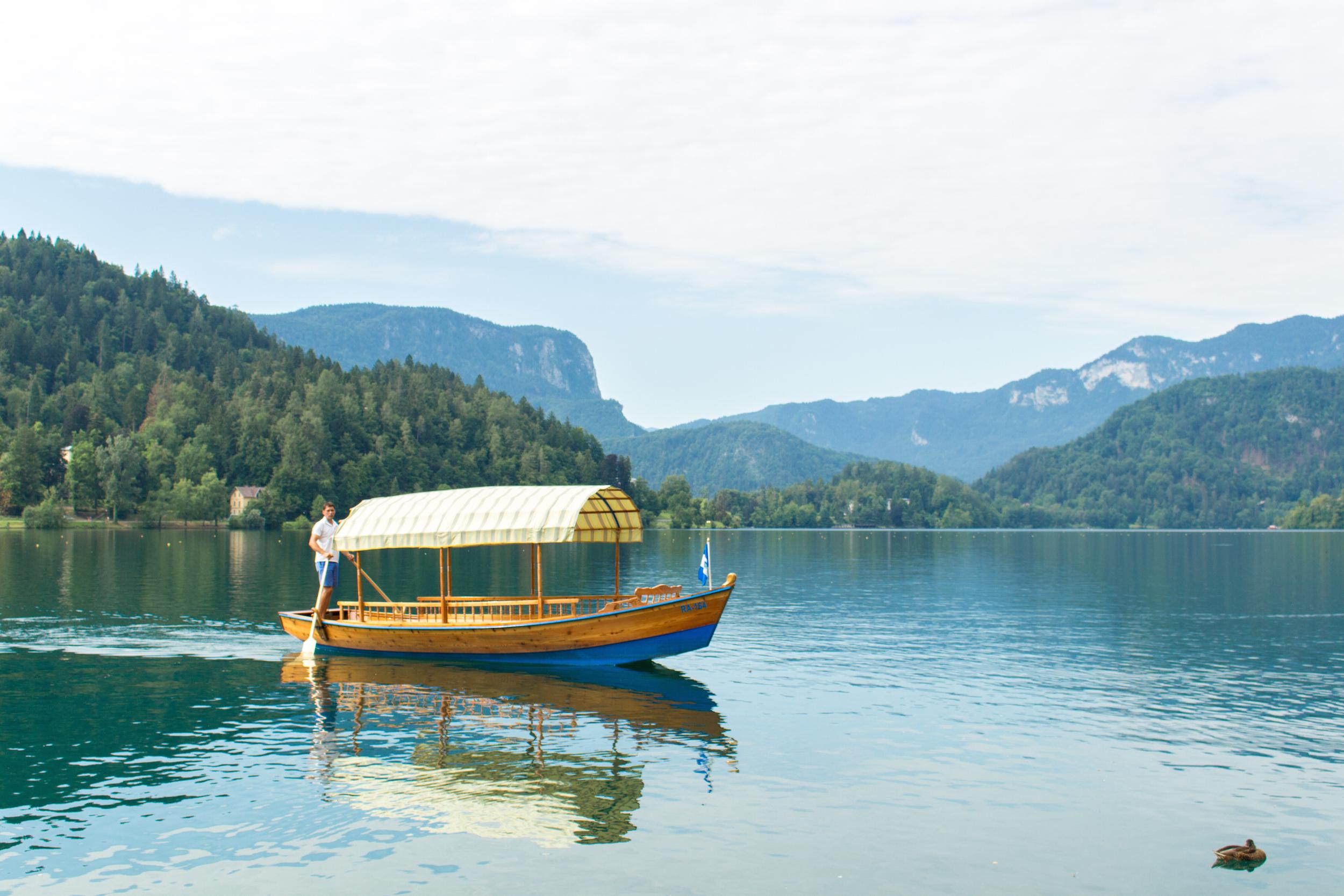 Pletna Boat Lake Bled
