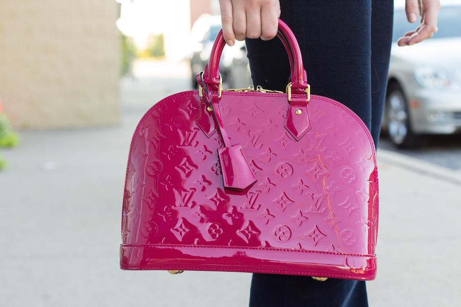 Louis Vuitton Vernis Alma PM Indian Rose