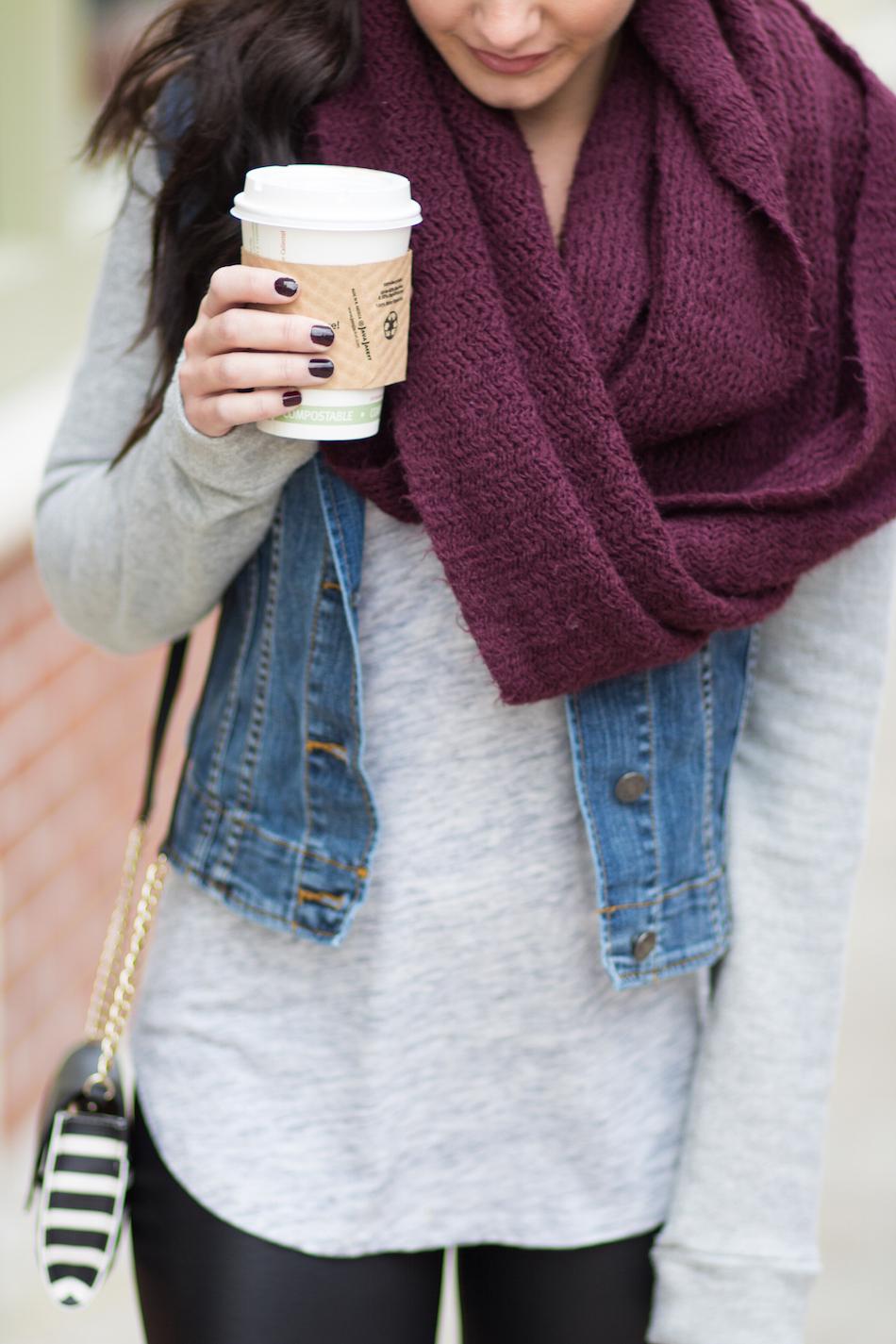 cozy layers + coffee