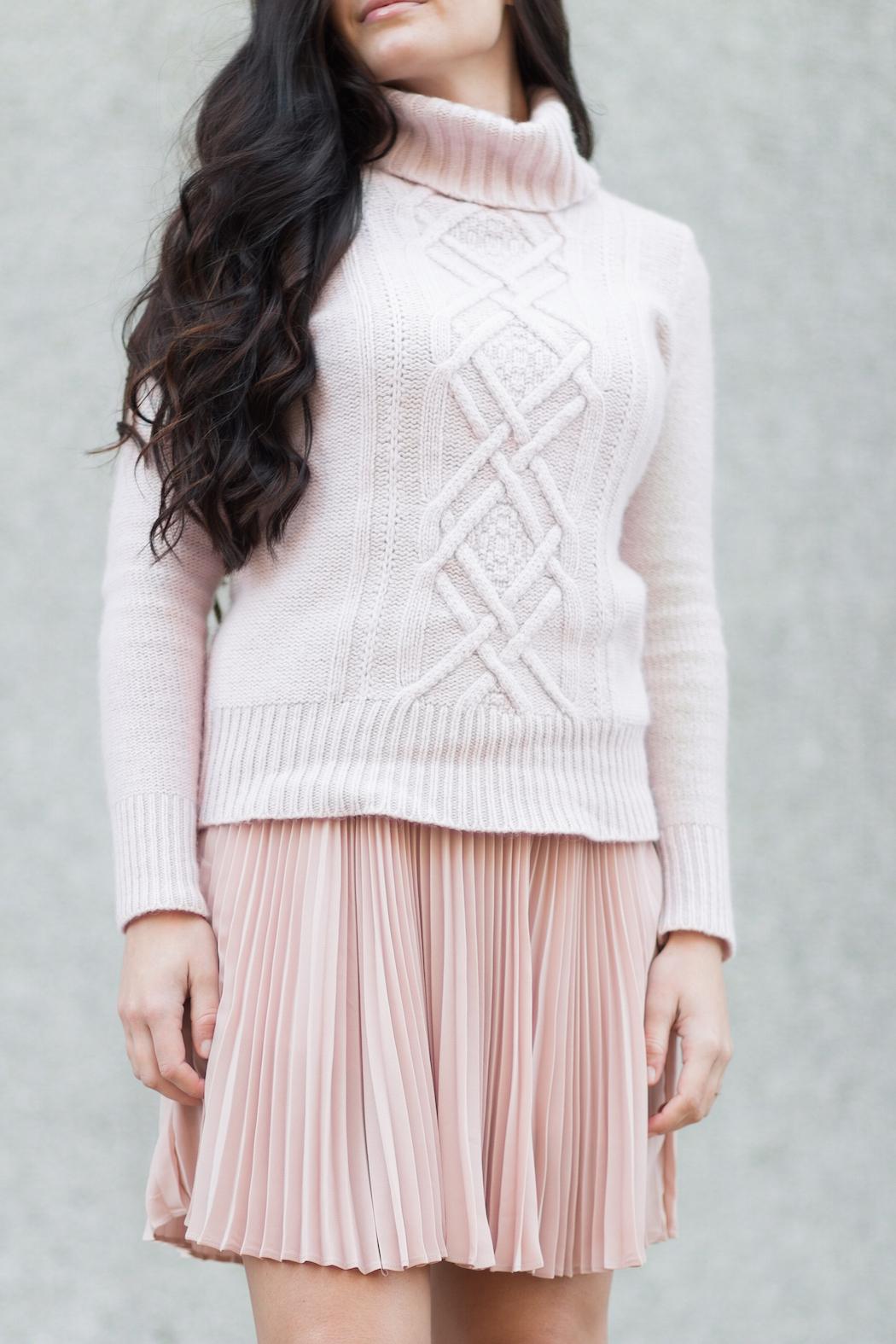 blush sweater + blush skirt