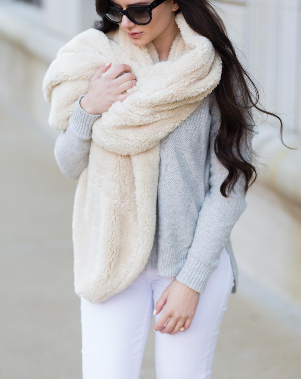cozy wrap + sweater