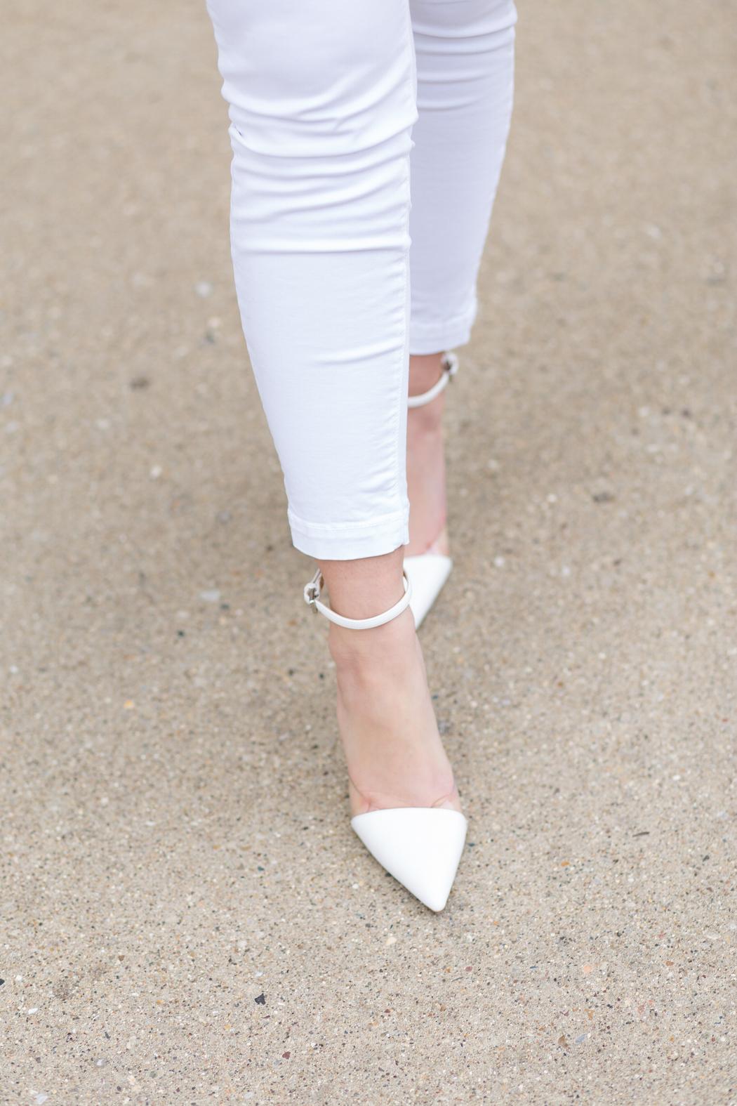 Zara Vinyl D'orsay Heels