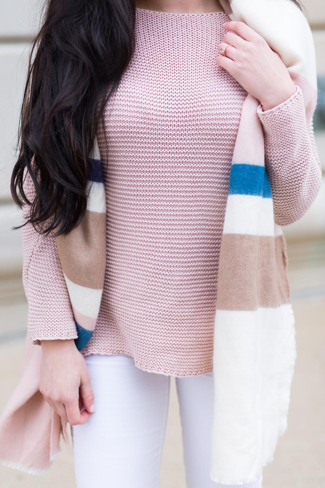 ASOS oversized stripe scarf