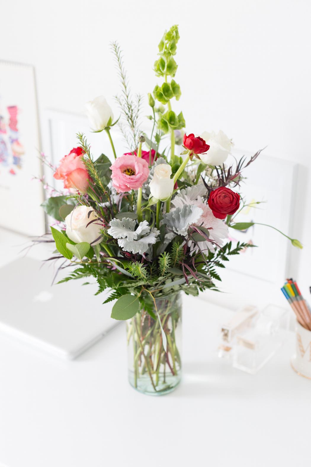 Floral Arrangement to Bright Workspace