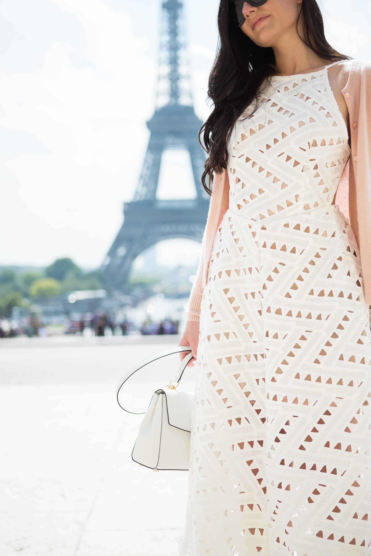Line + Dot Geo Lace Dress