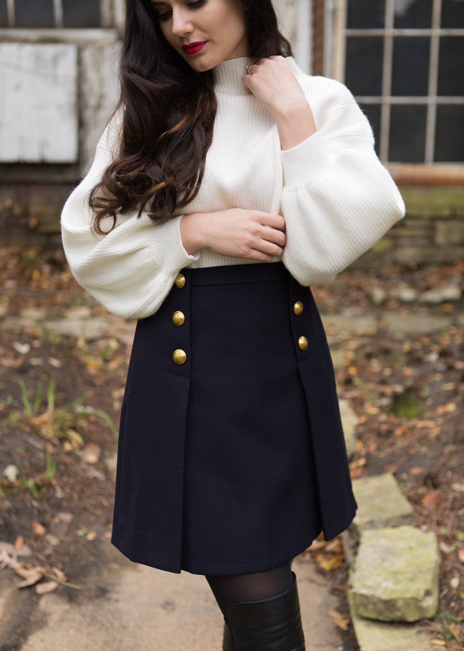 J Crew Sailor Skirt Double Serge Wool