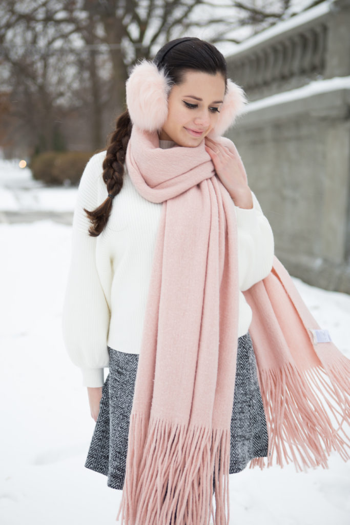 bundled in blush