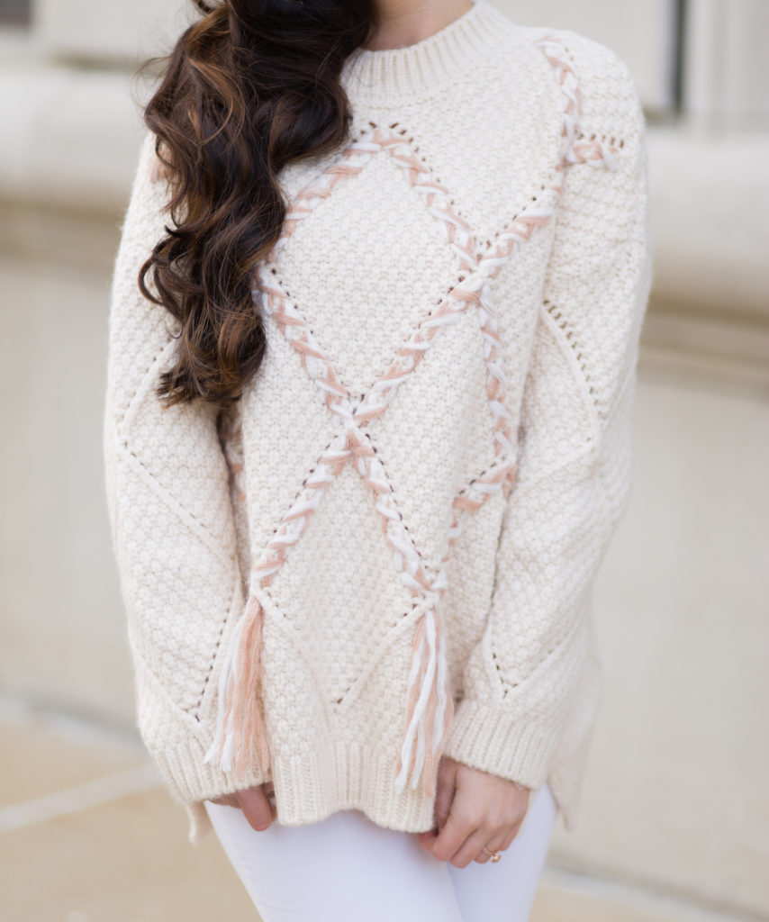 knitted braided sweater